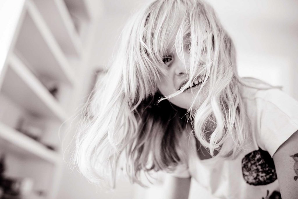 Little girl with blond hair